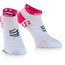 Compressport ProRacing V3 juoksusukat Ironman 2017 , vaaleanpunainen/valkoinen